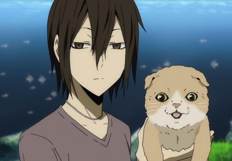 Dokusonmaru the cat from Durarara!! is one of the cutest anime pets ever!, Kasuka Heiwajima