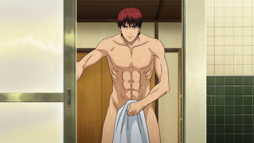Kagami from Kuroko no Basket has hot anime abs!