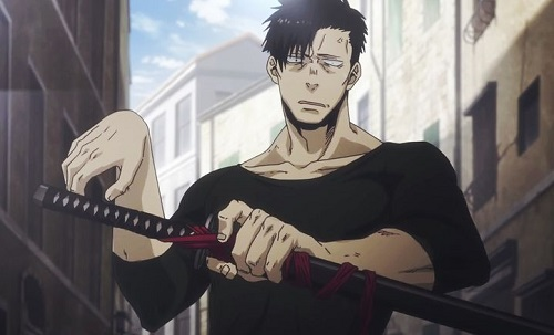Nic from Gangsta. has hot anime abs!