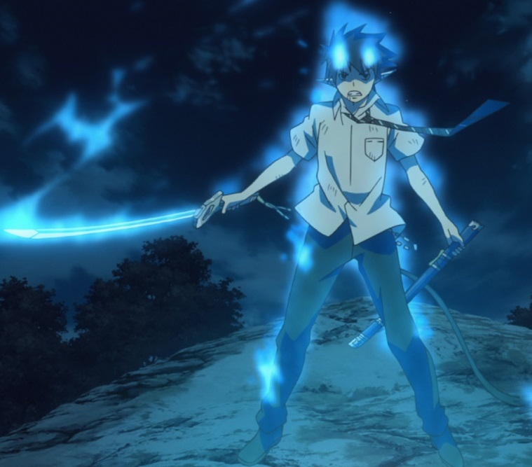Ao no Exorcist: Rin Okumura anime swords