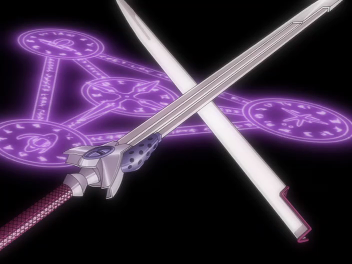 Mahou Shoujo Lyrical Nanoha A's: Laevatein anime swords