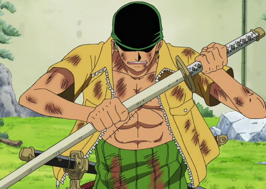 One Piece: Roronoa Zoro anime swords