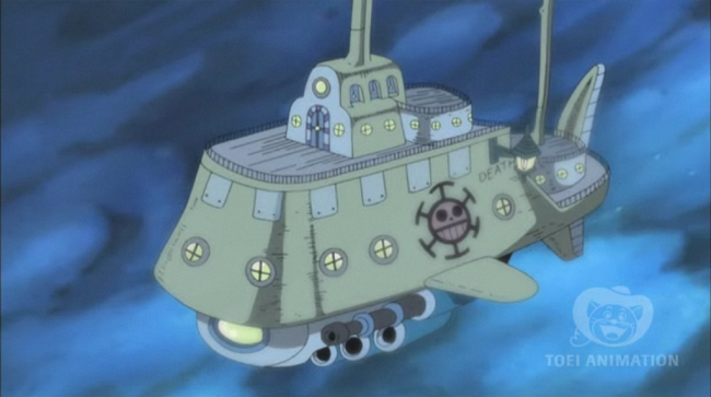 One Piece heart pirate submarine