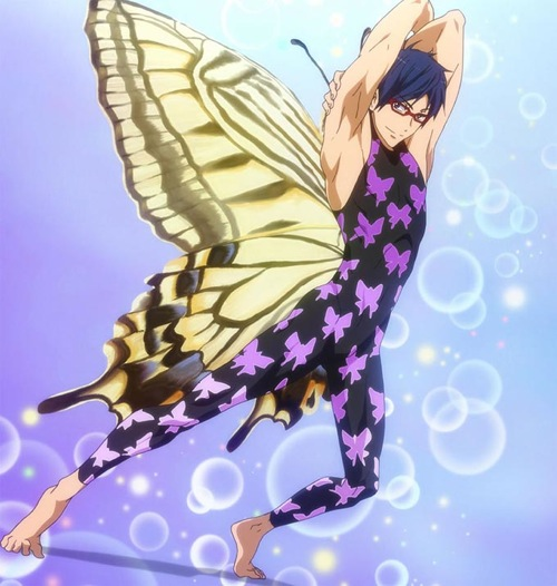 Check out these anime bikini babes from Love Live! and some anime swimsuit hunks! Rei Ryuugazaki