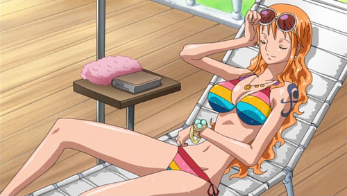 Check out these anime bikini babes from Love Live! and some anime swimsuit hunks! Nami