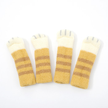 Chatora brown tabby nekoashi chair socks