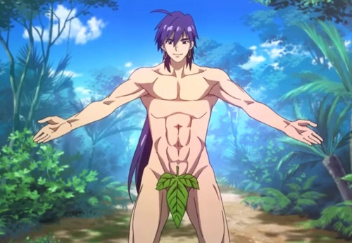 Sinbad from Magi: The Labyrinth of Magic has hot anime abs!