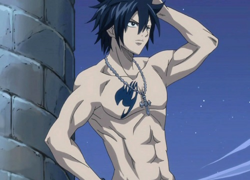 Gray Fullbuster from Fairy Tail has hot anime abs!