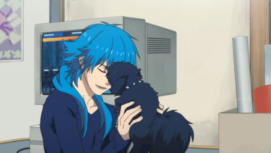 Ren the dog Allmate from DRAMAtical Murder is one of the cutest anime pets ever!, Aoba Seragaki