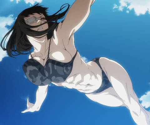 Valmet from Jormungand has hot anime abs!