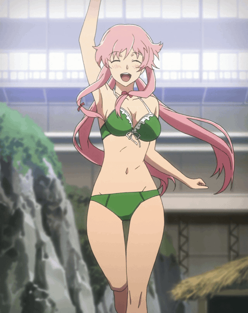 Check out these anime bikini babes from Love Live! and some anime swimsuit hunks! yuno gasai