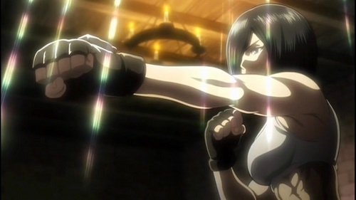 Mikasa Ackerman from Shingeki no Kyojin Attack on Titan has hot anime abs!