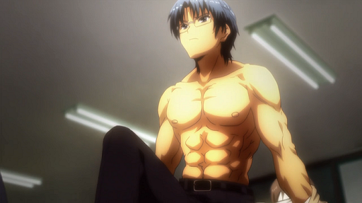 Takamatsu from Angel Beats! has hot anime abs!
