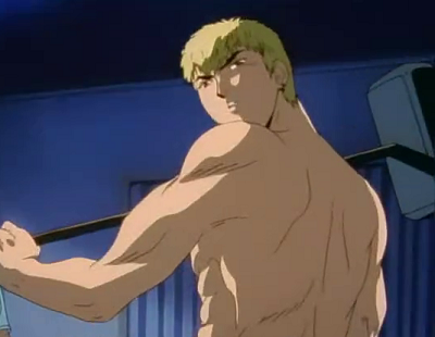 Eikichi Onizuka from GTO has hot anime abs!