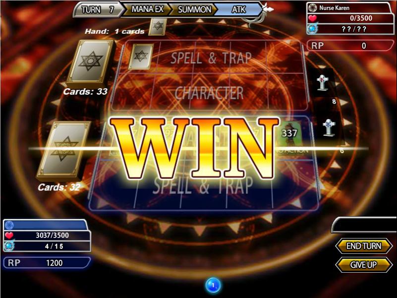 Angelic Saga victory screen