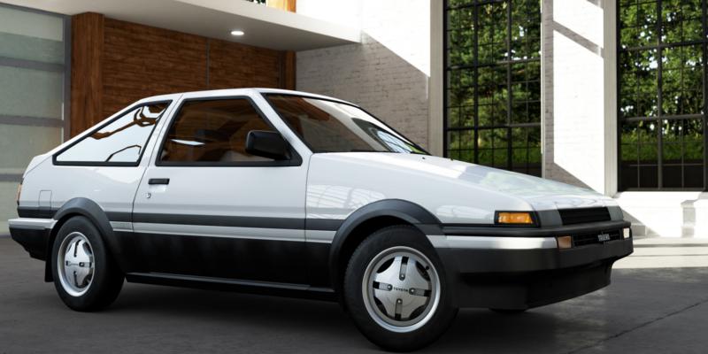 Initial D Toyota Sprinter Trueno GT-APEX