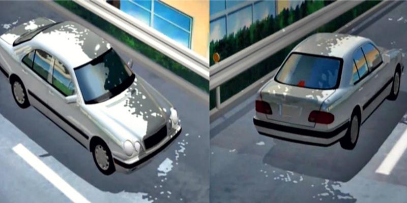 Initial D Anime Mercedes-Benz 190E