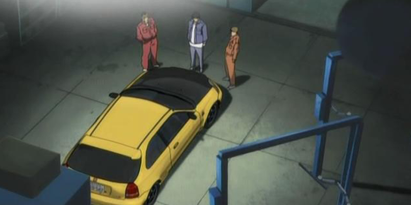 Initial D Anime Todo School Spoon Civic Type R Demo Car