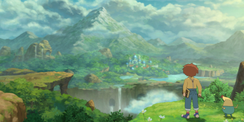 Studio Ghibli game Ni no Kuni: Wrath of the White Witch Oliver and Drippy