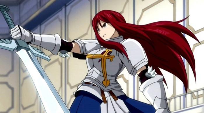 Erza Scarlet Fairy Tail anime long hair