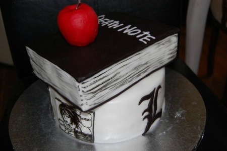 Death Note Anime Cake