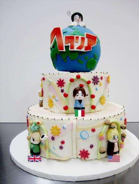 Hetalia Anime Cake