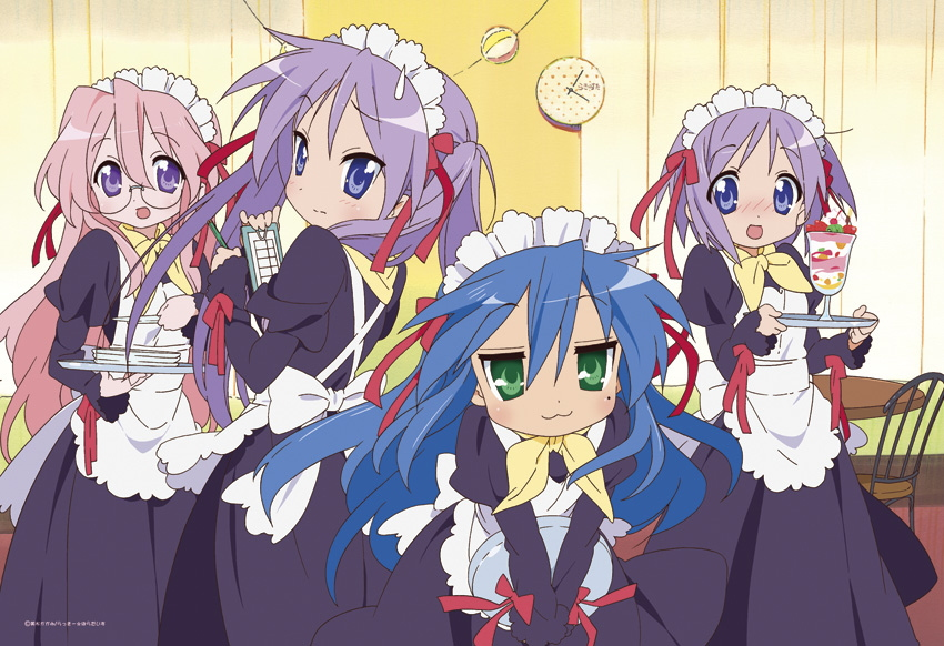 Lucky Star anime maid outfits are super cute!