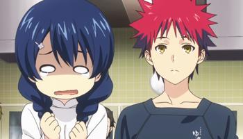 Shokugeki no Souma - Megumi Tadokoro and Souma Yukihira