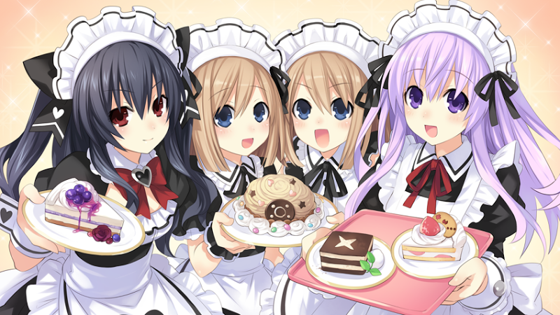 Choujigen Game Neptune The Animation maid outfits are super cute!