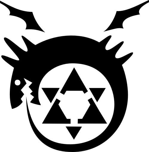 Fullmetal Alchemist_Ouroboros transmutation circle