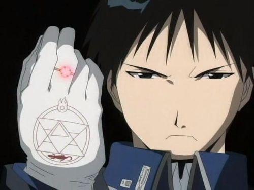 Fullmetal Alchemist Roy Mustang transmutation circle