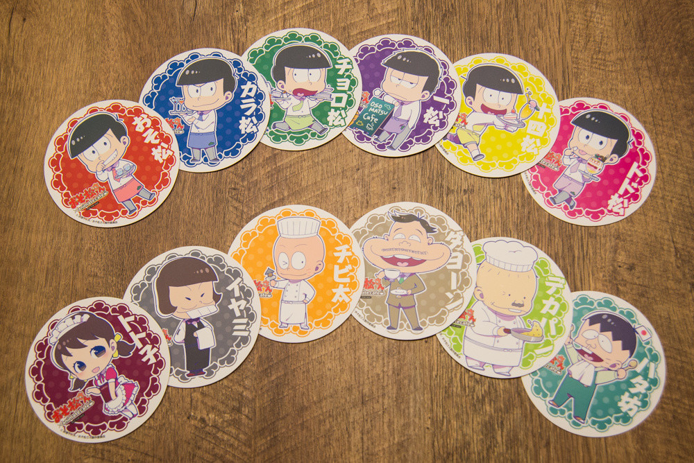 Order off the collaboration menu and you'll get a random deluxe coaster (12 designs total).