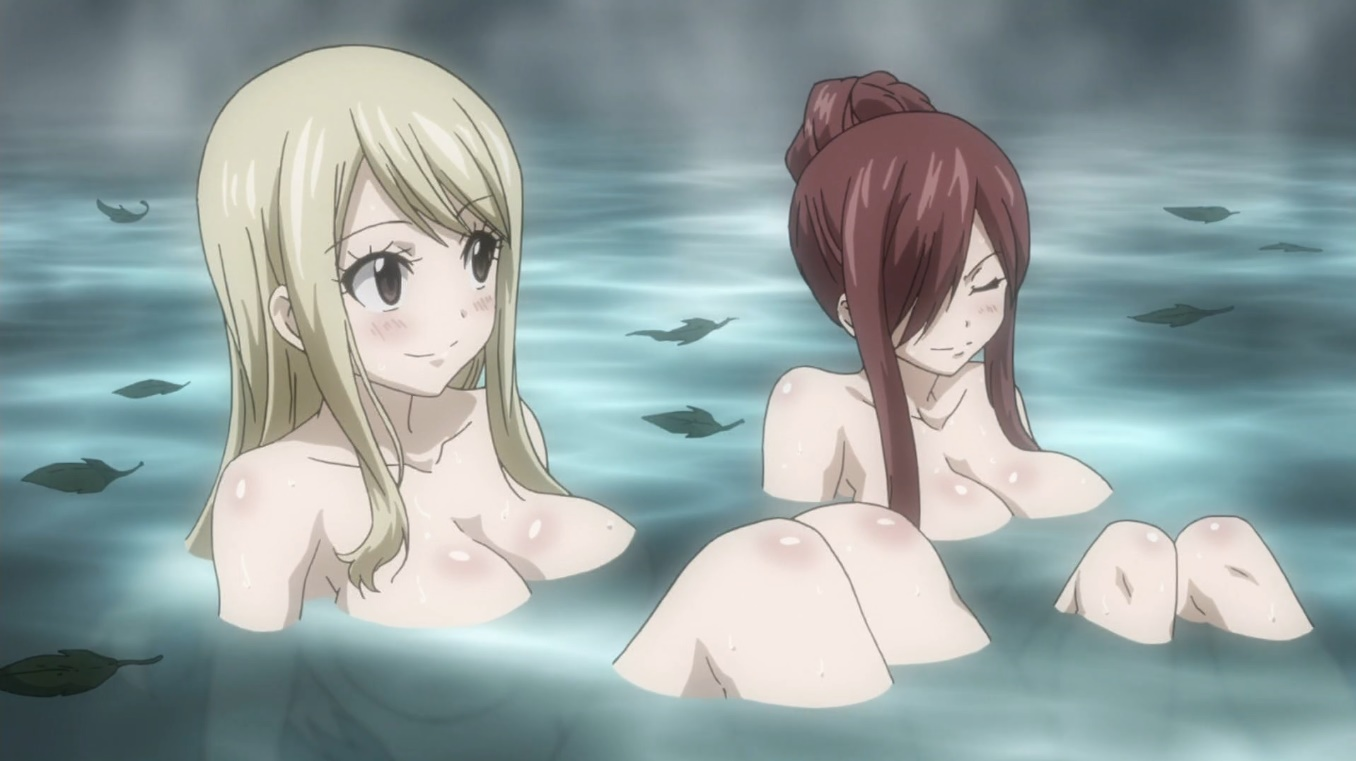 These hot fairy tail girls are taking an even hotter bath!