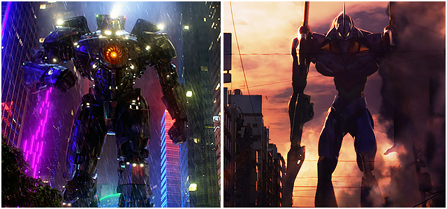 Pacific Rim EVA Comparison Influence of Japanese Animation in Hollywood