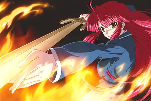 Anime Fire Users Ayano Kannagi from Kaze no Stigma