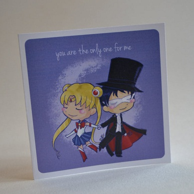 25 Anime Themed Valentine's Day Cards! Bishoujo Senshi Sailor Moon anime valentines