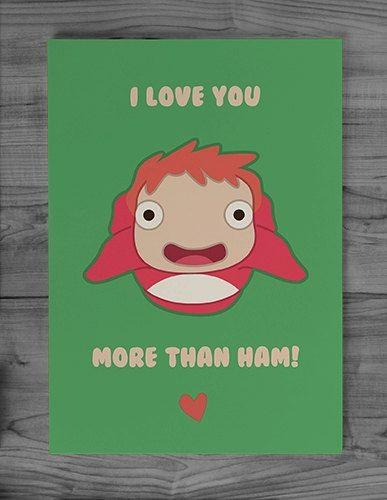 25 Anime Themed Valentine's Day Cards! Gake no Ue no Ponyo (Ponyo) 1 anime valentines