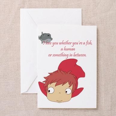 25 Anime Themed Valentine's Day Cards! Gake no Ue no Ponyo (Ponyo) 2 anime valentines