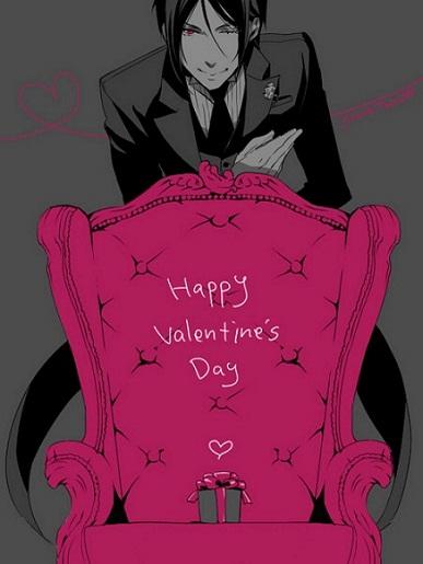 25 Anime Themed Valentine's Day Cards! Kuroshitsuji 1 anime valentines