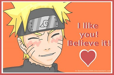 25 Anime Themed Valentine's Day Cards! Naruto 1 anime valentines