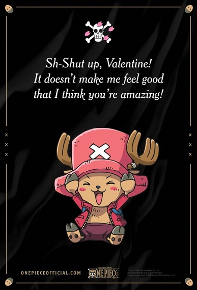 25 Anime Themed Valentine's Day Cards! One Piece 1 anime valentines