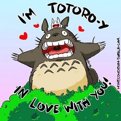25 Anime Themed Valentine's Cards!Tonari no Totoro (My Neighbor Totoro) 2 anime valentines
