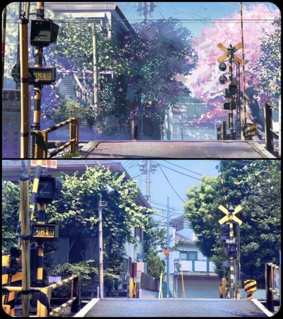 Byousoku 5 Centimeter anime in real life in Japan