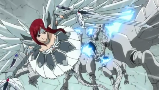 Erza's Wheel of Heavens, anime armor, Fairy Tail