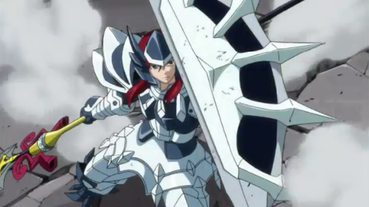 Erza's Adamantine, anime armor, Fairy Tail