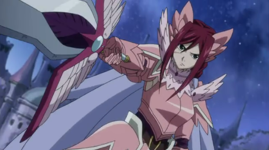 Erza's Armadura Fairy, anime armor, Fairy Tail