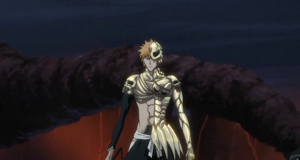 Ichigo Kurosaki's Skull-like armor, anime armor, Bleach