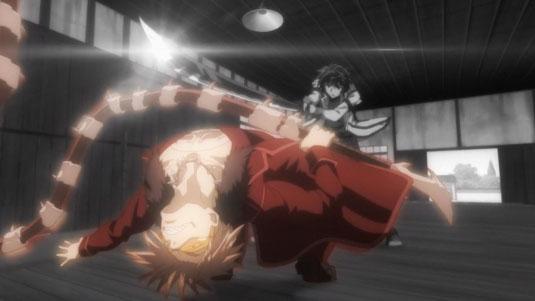 [Rakudai Kishi no Cavalry] Ikki Kurogane and Kuraudo Kurashiki, Sword Eater Fight