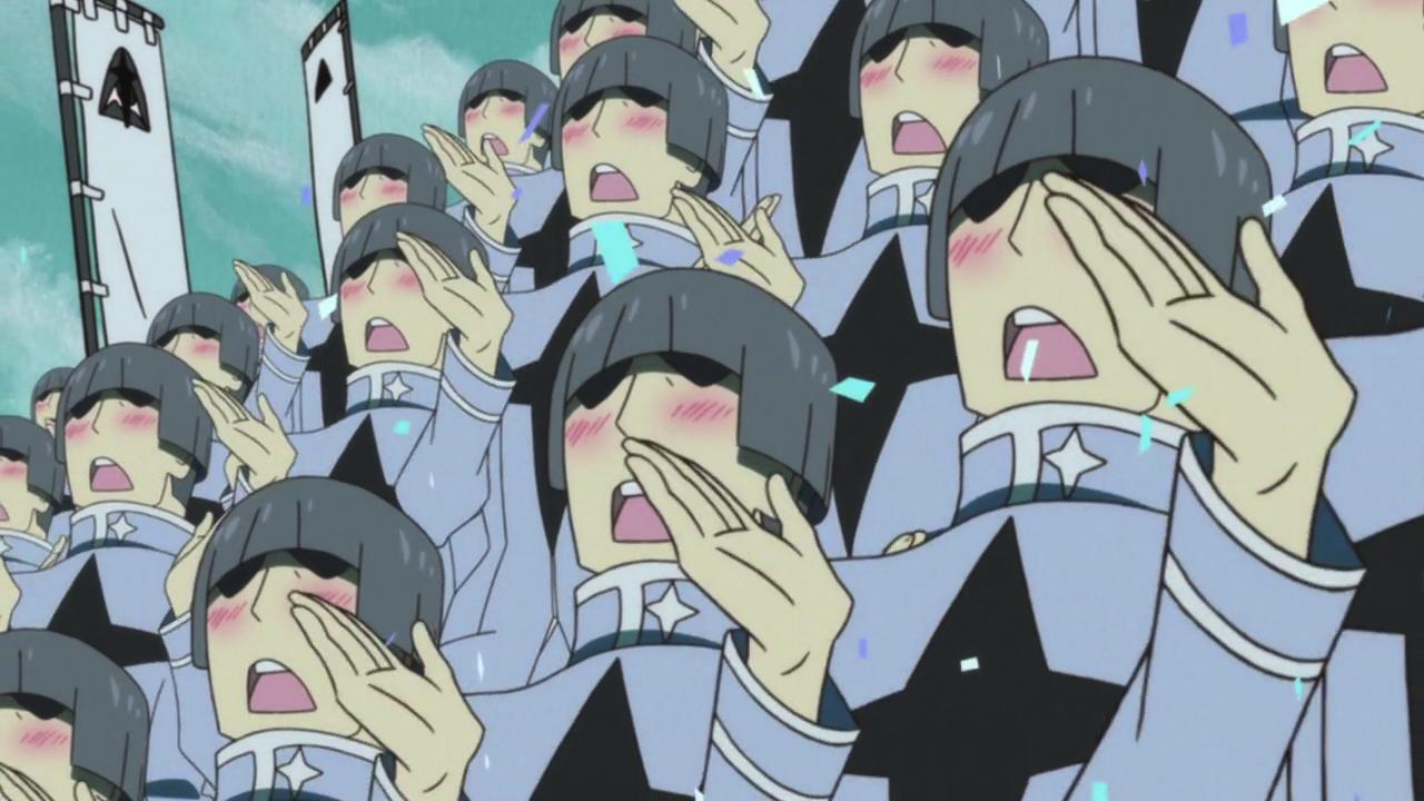 Kill la kill blushing men anime gainaxing anime boobs
