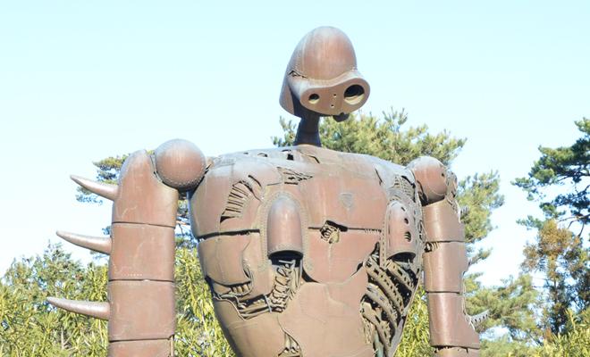 The robot soldier at studio ghibli museum mitaka station